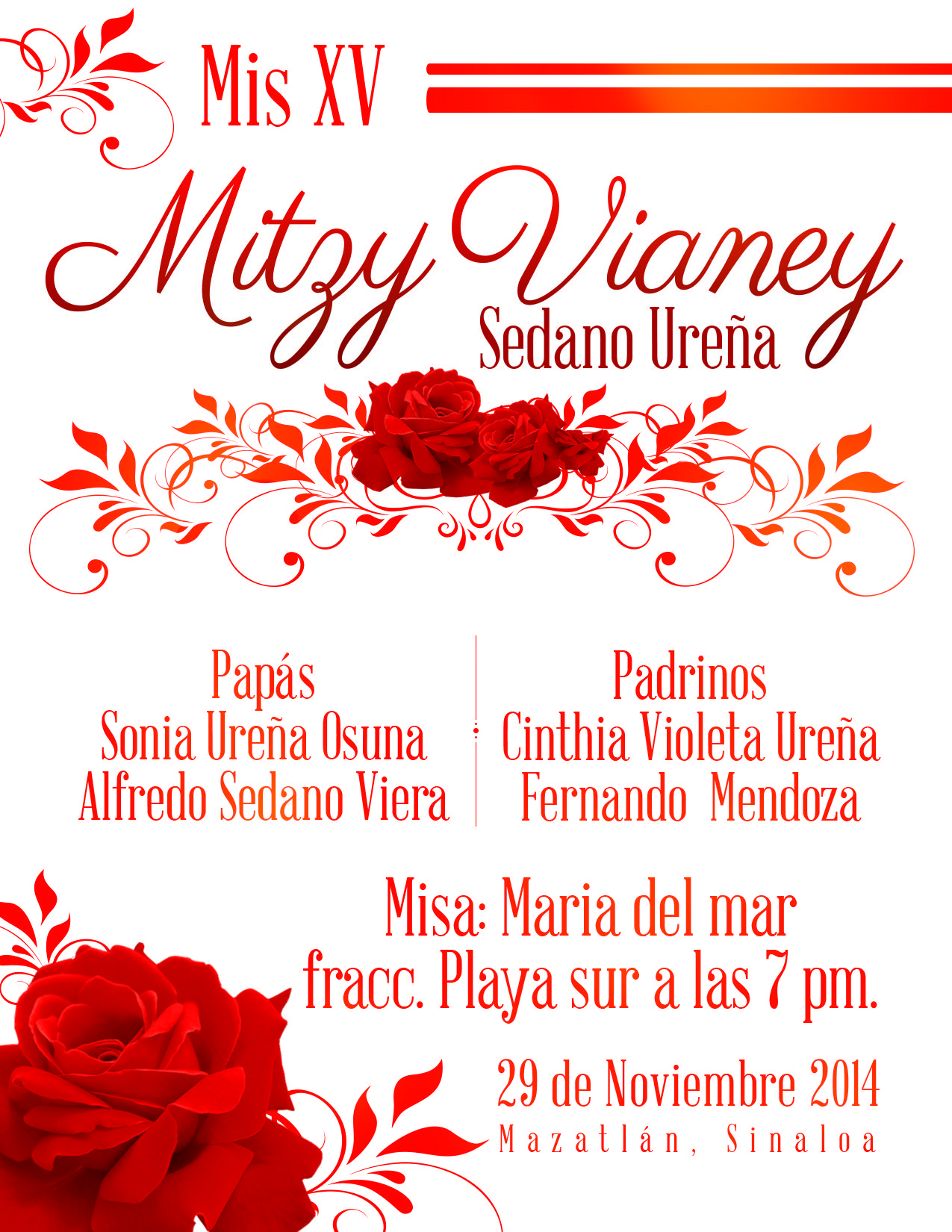 Mis Xv -rojo | Party: Invitations | Pinterest | Party invitations