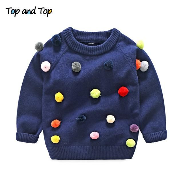 Boys Girls O-neck Sweater Kids Clothes Boys Sweaters Outerwear Warm Knitted Pullover Autumn Children's Sweater Coats #children'ssweaters