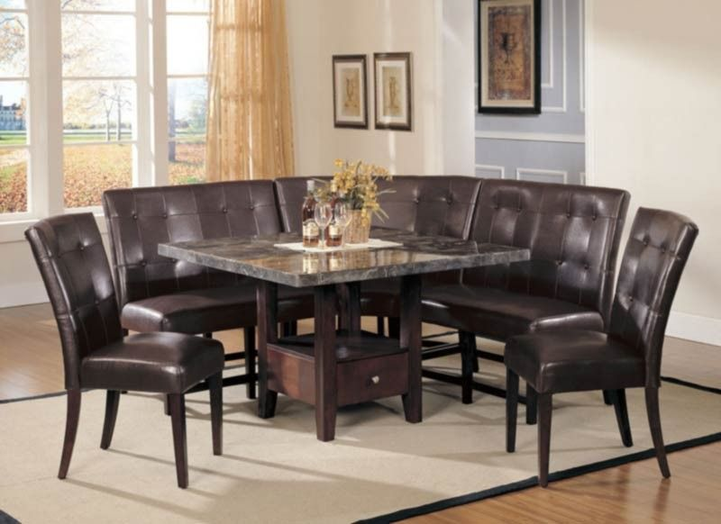 Acme Furniture  Danville 6 Piece Dining Table Set In Walnut Captivating Acme Dining Room Set Inspiration