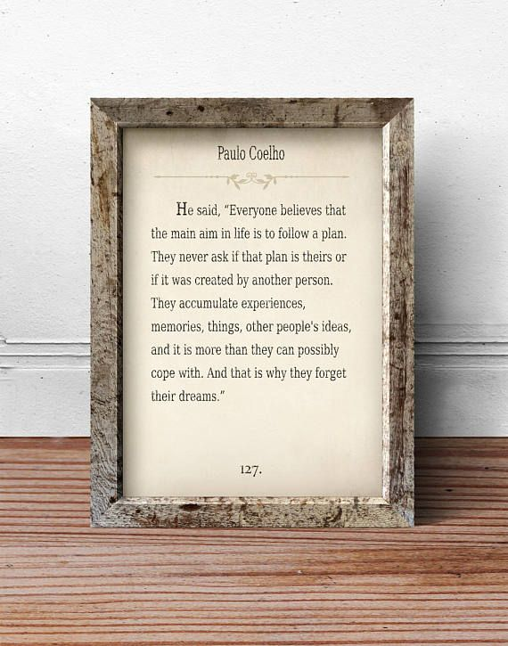 Paulo Coelho Quote Print, Quote Wall Art, Quote Signs, Quote Art ...