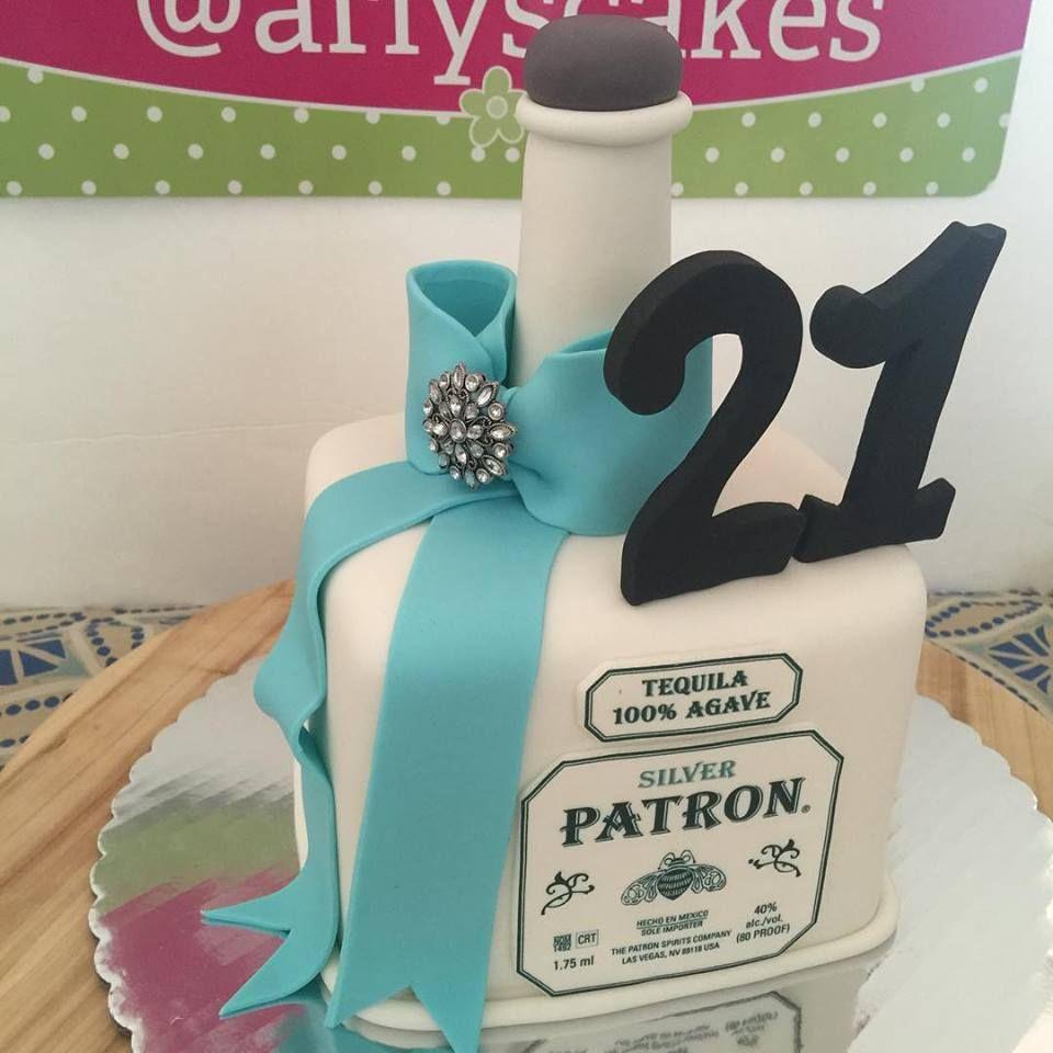 Fine 21St Birthday Cake Ideas Tequila Bottle Fondant Cake 21St Personalised Birthday Cards Cominlily Jamesorg