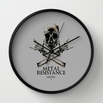 Metal Resistance Wall Clock by Faintness graphics - $30.00