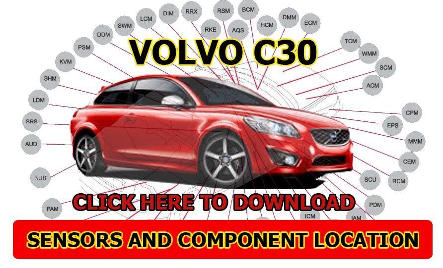 Volvo C30 C70 A Z Sensor And Component Locations Volvo C30 Volvo Sensor