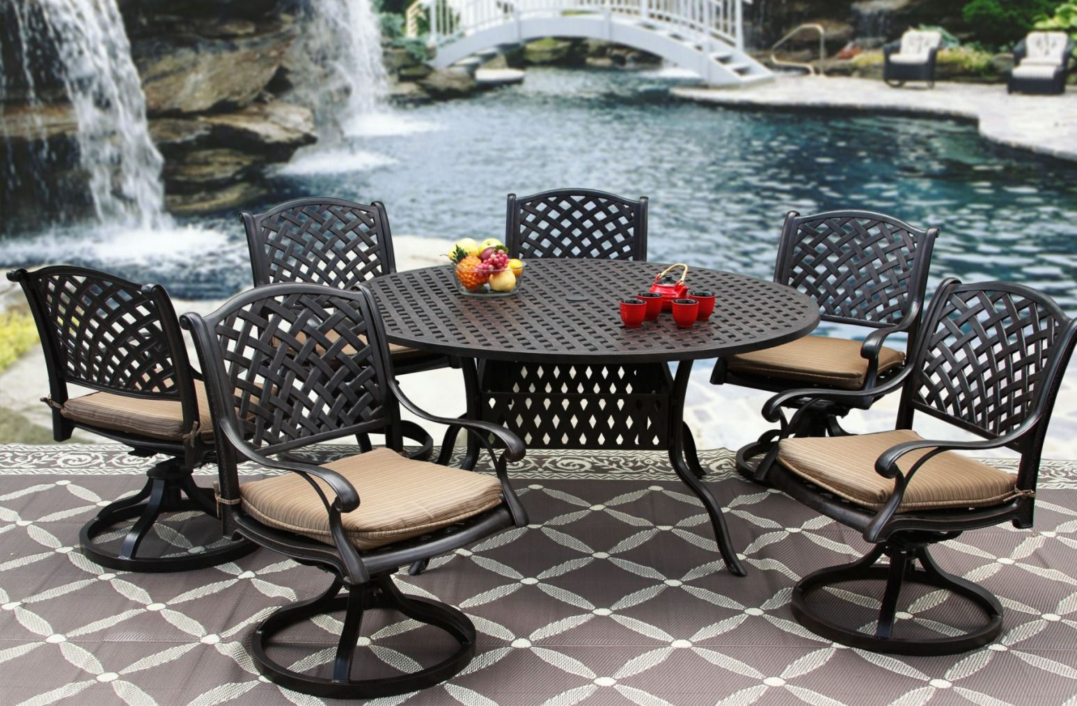 100 60 inch round patio table sets best paint for wood furniture rh pinterest com Used 60 Inch Round Tables Used 60 Inch Round Tables