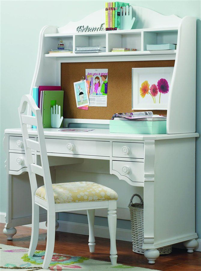 White Desk For Girls Room Interesting Cute Desk I Really Wwant This  Cool Things  Pinterest  Desks Decorating Inspiration