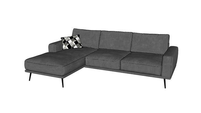 0014 Divan Boconcept Carlton Black Sofa Diy Bedroom Decor Furniture