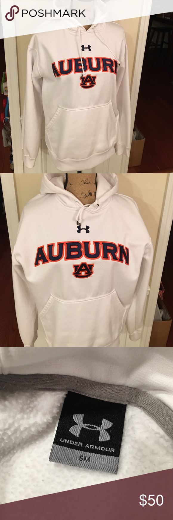 AU Auburn University Under Armour hoodie AU Auburn University, Like new , Under Armour Hoodie, women's size Small, very nice , good quality, Under Armour Tops Sweatshirts & Hoodies