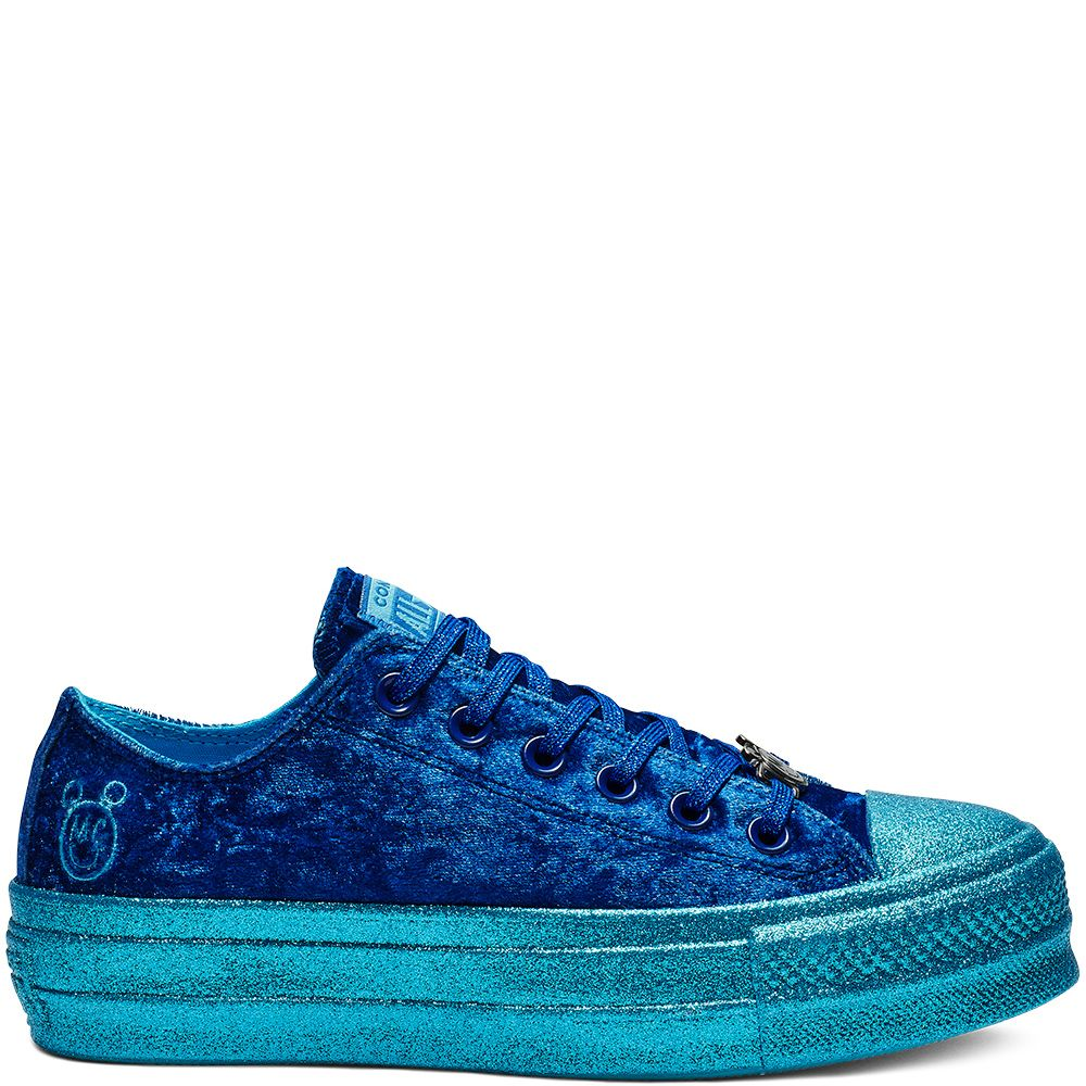493031e18f9 Converse x Miley Cyrus Chuck Taylor All Star Low-Top Velvet Gnarly  Blue/Blue/Gnarly Blue gnarly blue/blue/gnarly blue