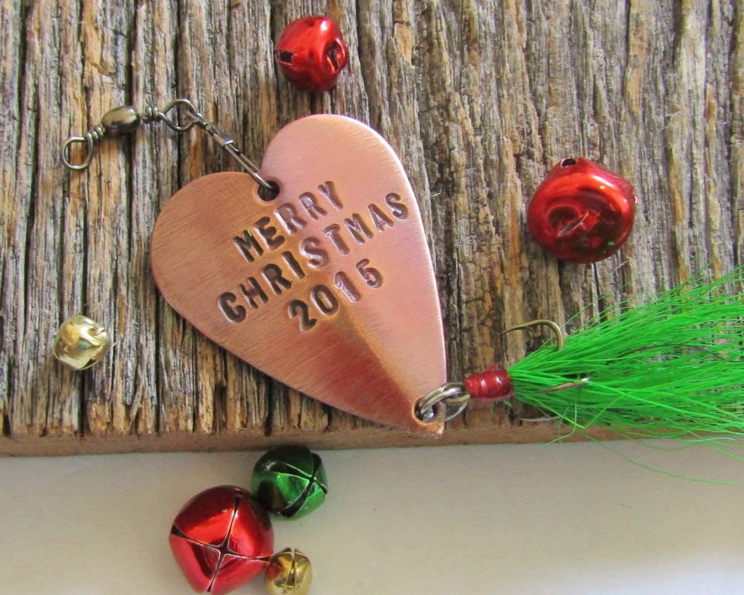 merry christmas fishing lure happy holidays personalized gift for boyfriends family fishing gift for christmas tree