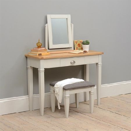 New England Light Grey Dressing Table Set 1036.032 Quality wooden ...