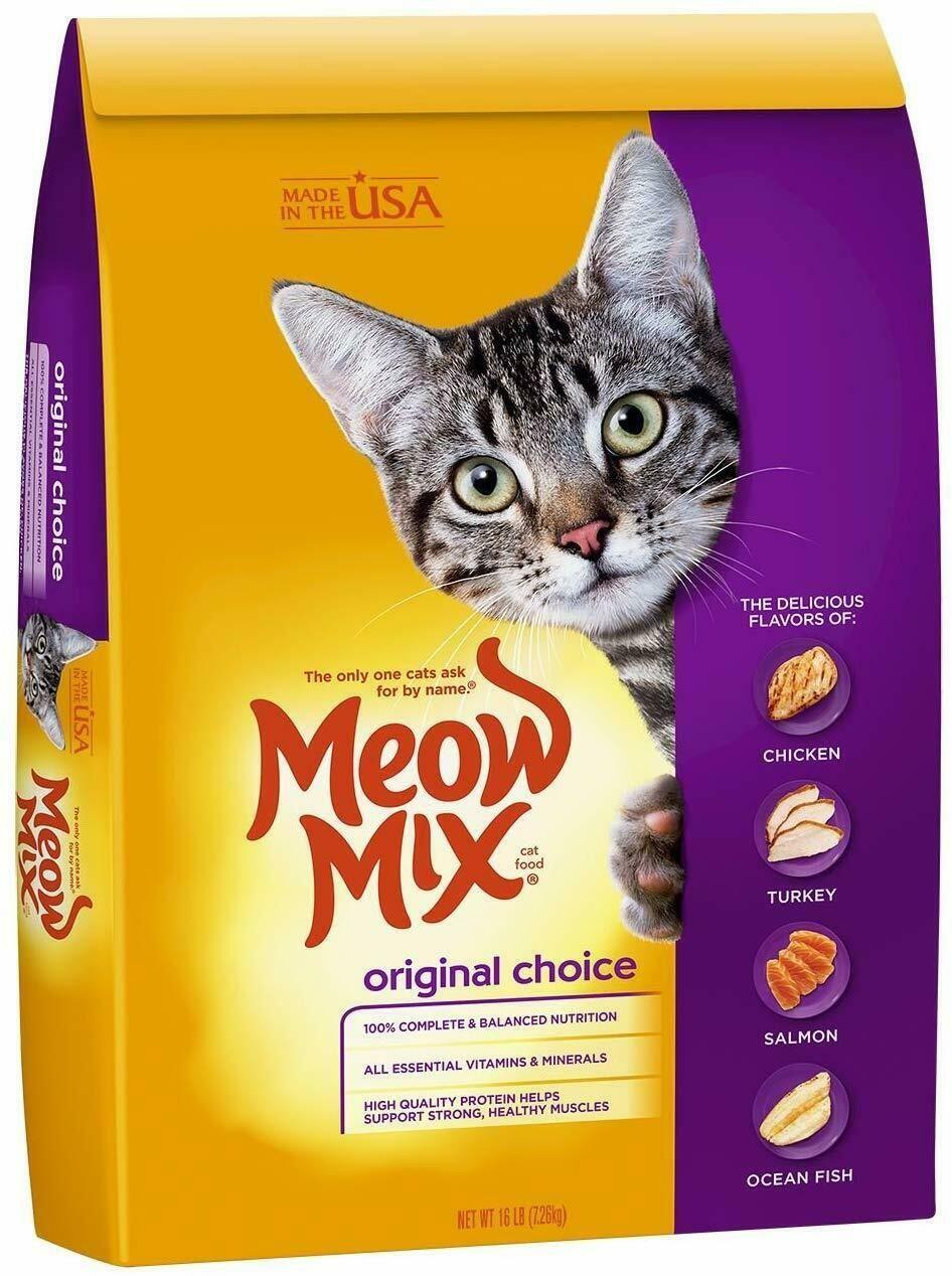 Meow Mix Original Choice Dry Cat Food 6 3lb 16 Lb Chicken Turkey