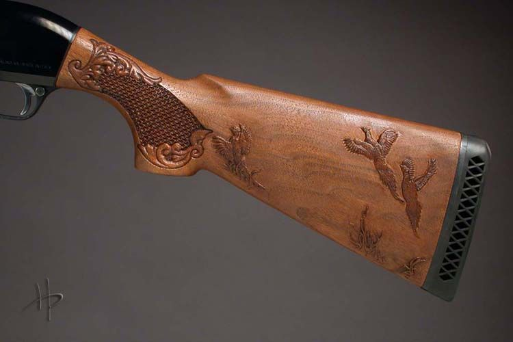 Wood gun stock carving patterns also has elegant