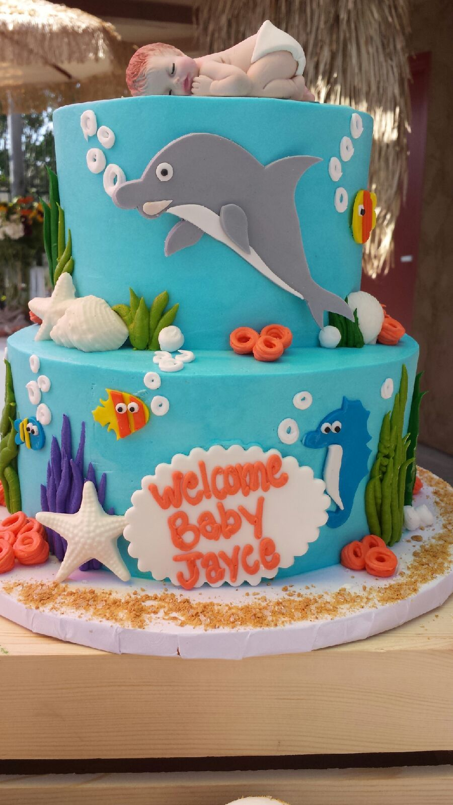 Under The Sea Surf Baby Shower Cake By Great Dane Bakery In