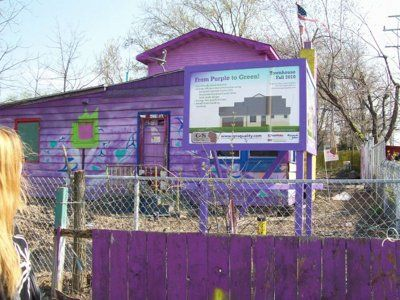 For almost two decades, the iconic purple house sat on the corner of 43rd and Howard, and the entire time, the neighborhood was divided. Some found it to be an eyesore, while others appreciated it as a quirky, iconic landmark. In 2010, the house was torn down but now, the son of the former owners hopes to buy back the land.