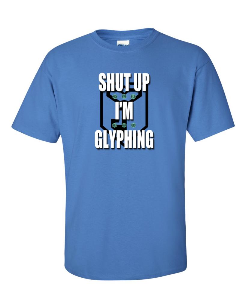 Ingress Shut Up I M Glyphing T Shirt For Resistance Ingress Shirts Shut Up [ 1024 x 819 Pixel ]