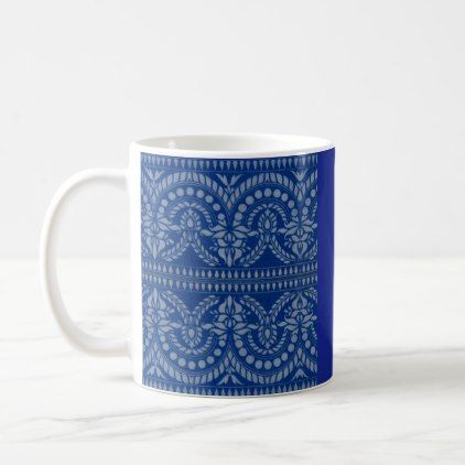 beautiful blue Victorian decor print Coffee Mug - diy cyo customize personalize design