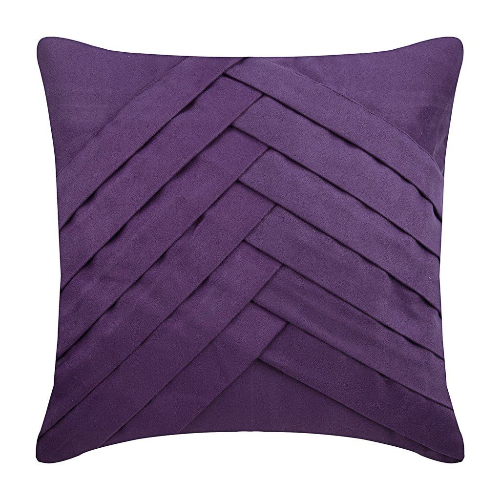 Purple Faux Suede Throw Pillow