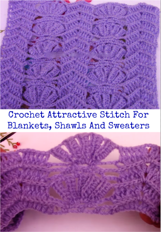 attarctive stitch for blankets, shawls, sweaters | Scarfs and Shawls ...