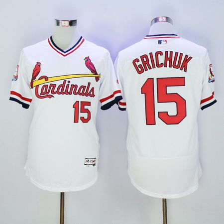 Men's St. Louis Cardinals #15 Randal Grichuk Retired Red 2015 MLB Cool Base Jersey