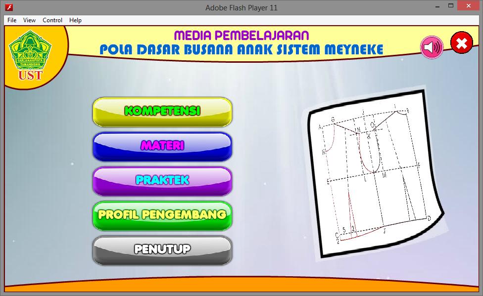 Aplikasi Multimedia Pembelajaran Interaktif Pola Dasar Busana Anak Game Edukasi Flash Multimedia