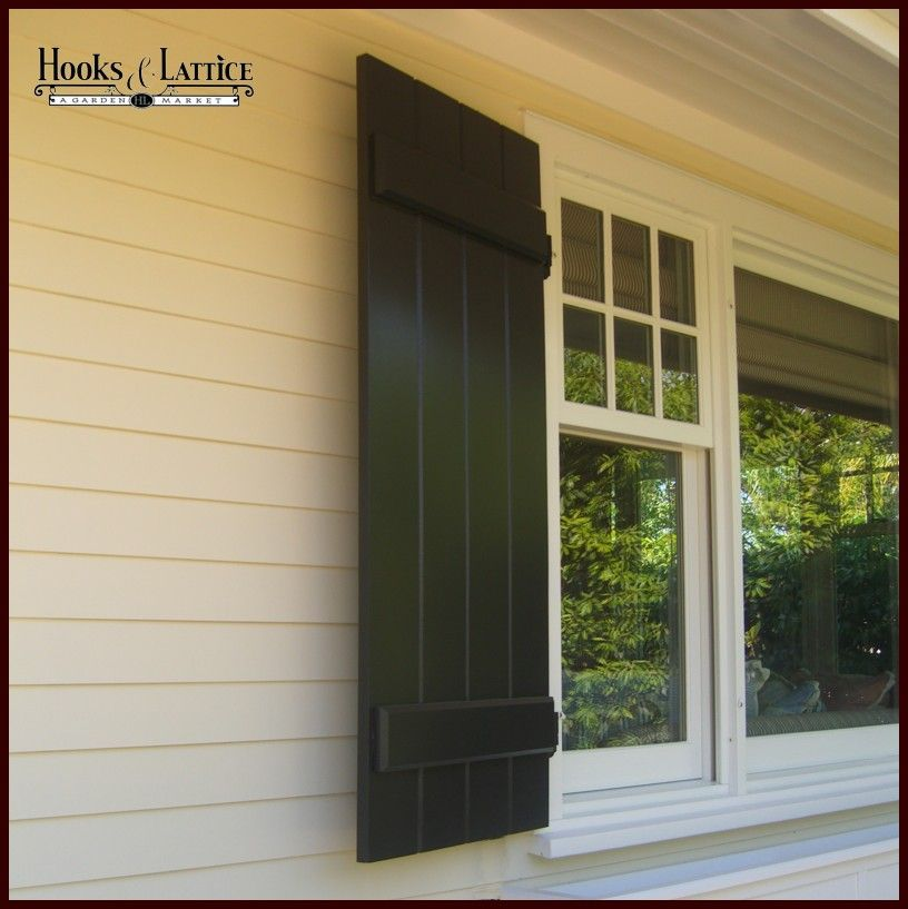 Board and Batten Exterior Shutters | Around The House | Pinterest ...