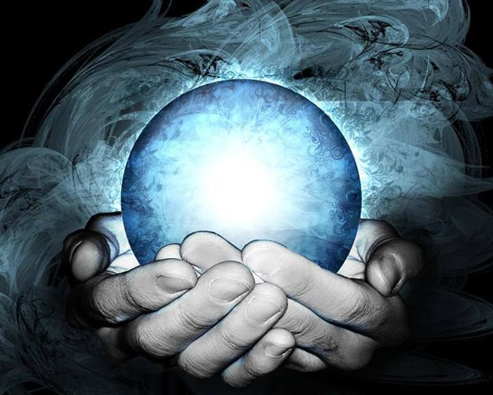 Hands Holding Light Crystal Ball Psychic Powers Psychic