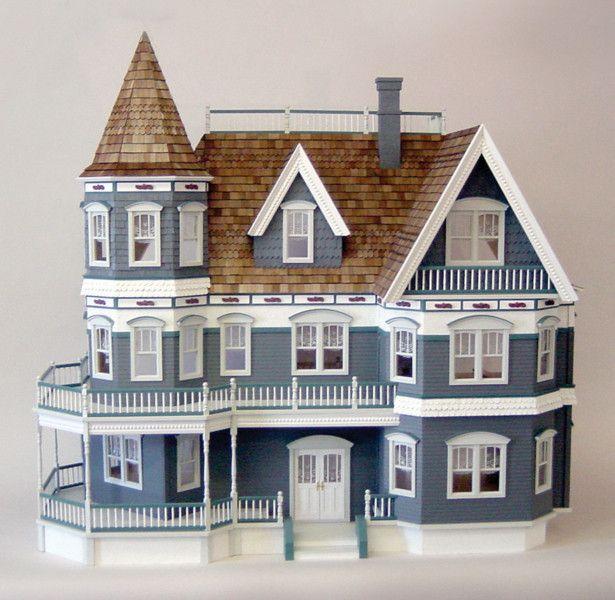 queen anne dollhouse kit maisons en carton maquettes et. Black Bedroom Furniture Sets. Home Design Ideas
