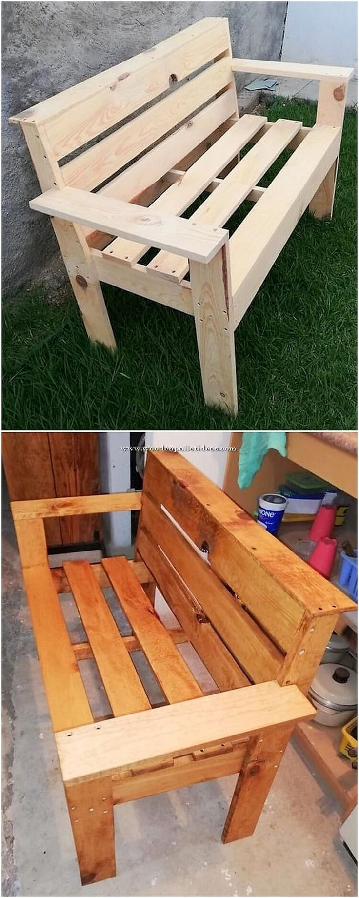 how to build a dresser out of pallets