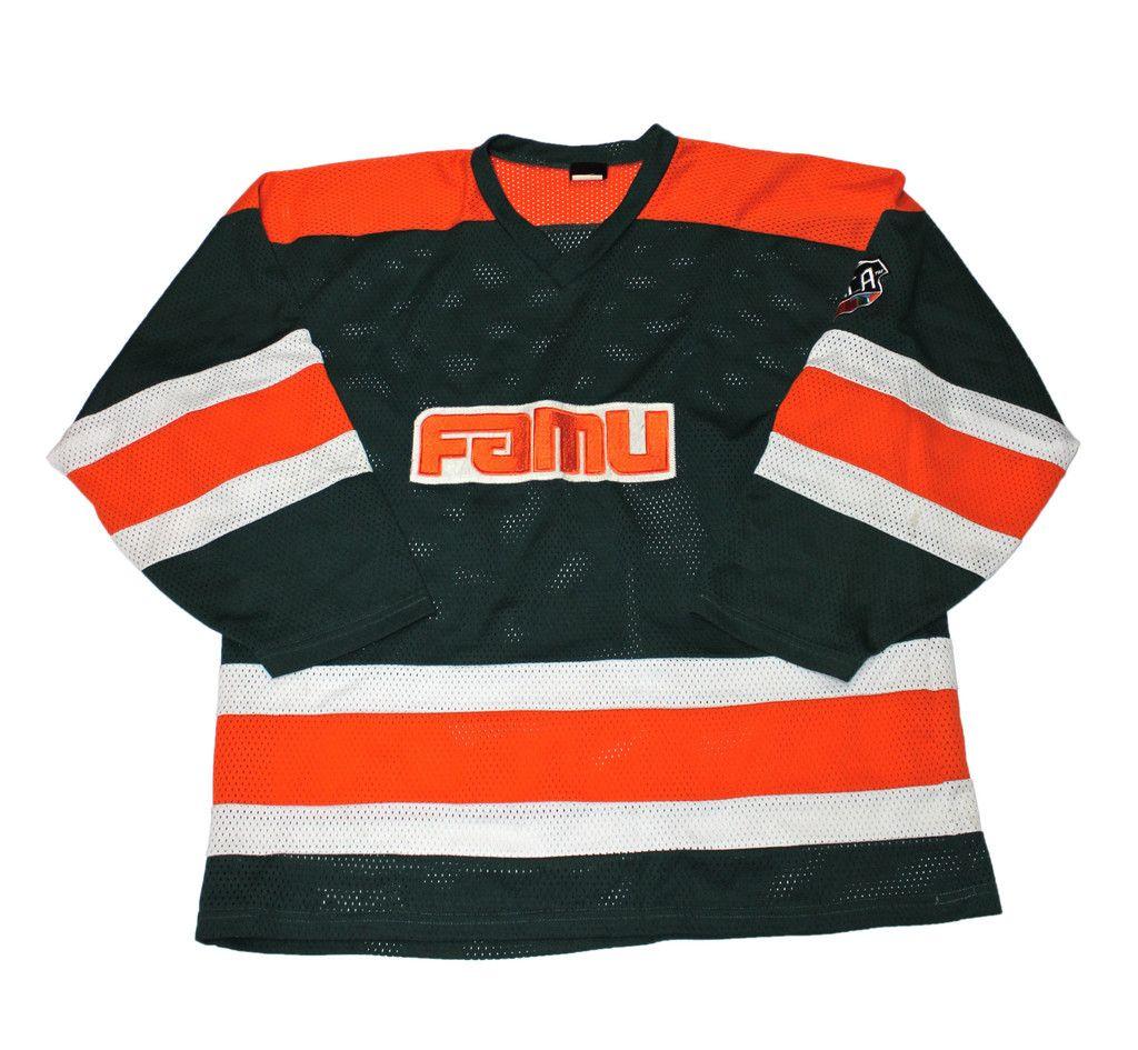 brand new 12d81 7b8b6 Vintage FAMU Florida A&M University Hockey Jersey Mens Size ...