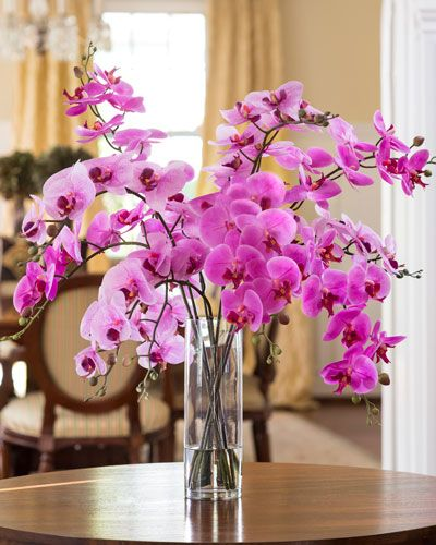 Distinctive Glorious Garden Silk Flower Centerpiece At Petals: Grand Phalaenopsis Orchid Artificial Flower Arrangement