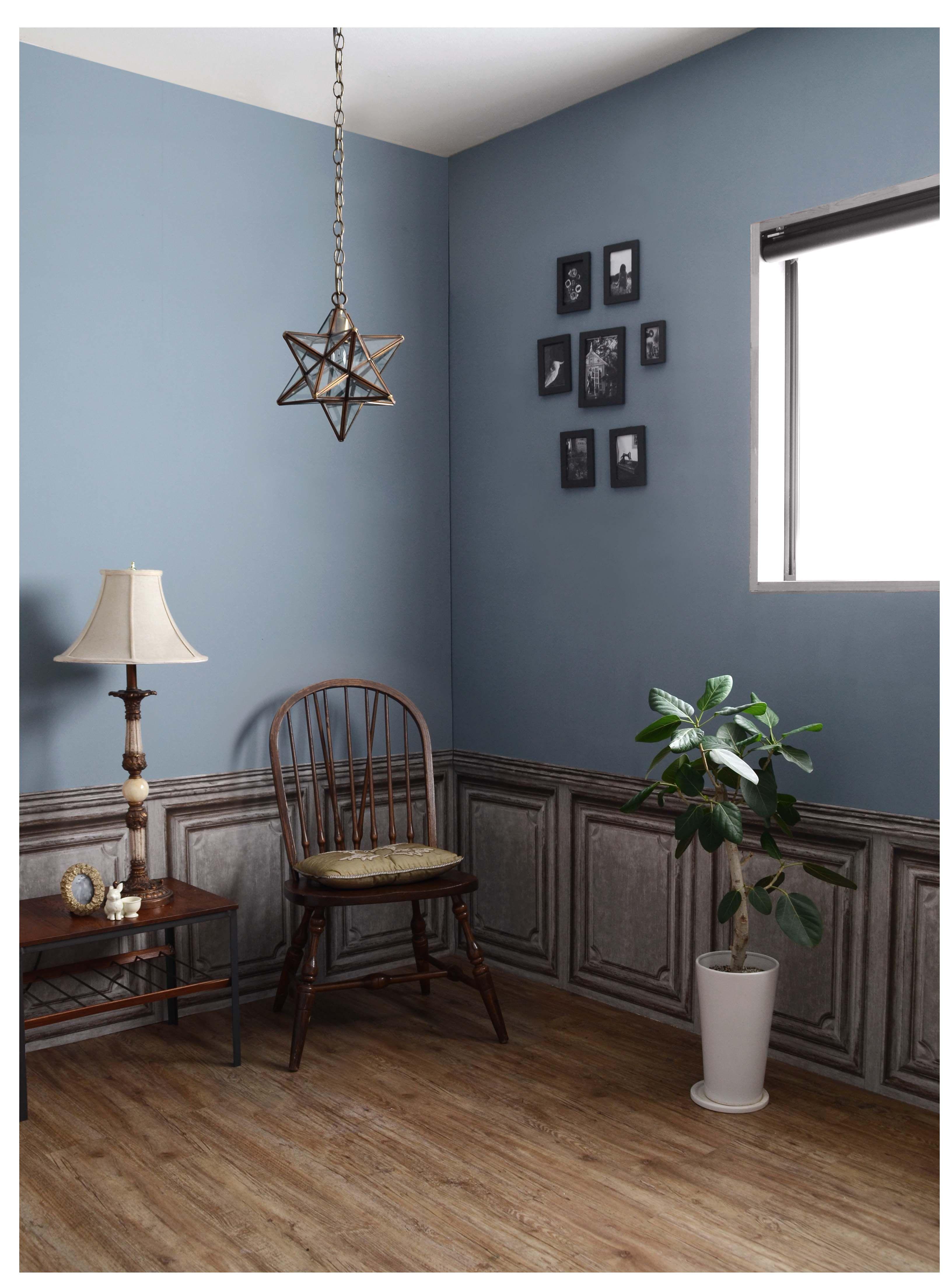 楽天市場 壁紙の上に塗れる水性ペンキイマジンブルーグレートーンペイント2l水性塗料 約12 14平米使用可能 メーカー直送商品 壁紙屋本舗 カベガミヤホンポ インテリア ブルーグレー インテリア インテリア ブルー