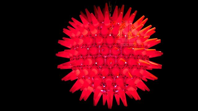 A Lamp Made Of 200 Traffic Cones Is The World S Craziest Hazard Light Hazard Lights Retail Design Blog Australian Interior Design