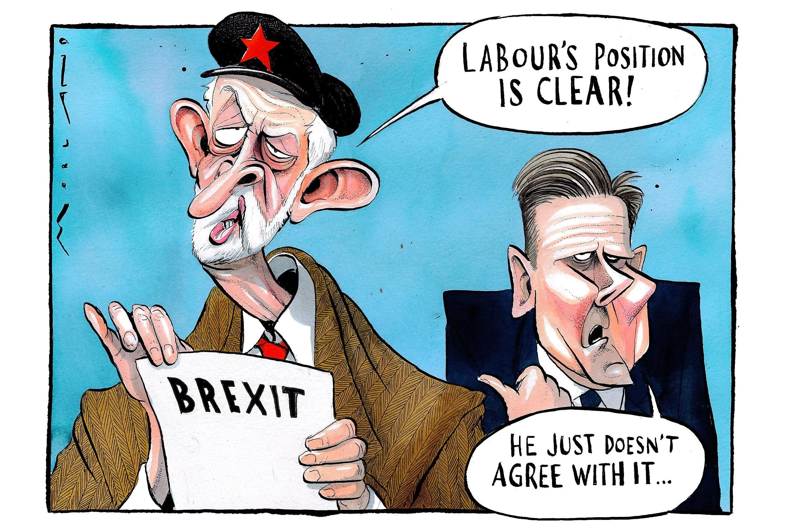 Times Cartoon Labour S Brexit Position Cartoon Political