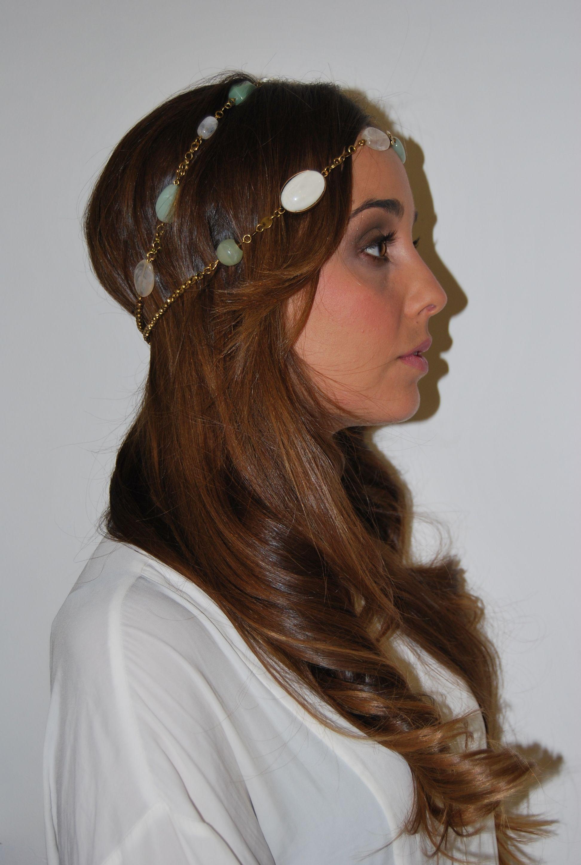 Bonito y cómodo peinados para el instituto Imagen de cortes de pelo tutoriales - Peinado ondulado con diadema-collar Peluquería Gregorio ...