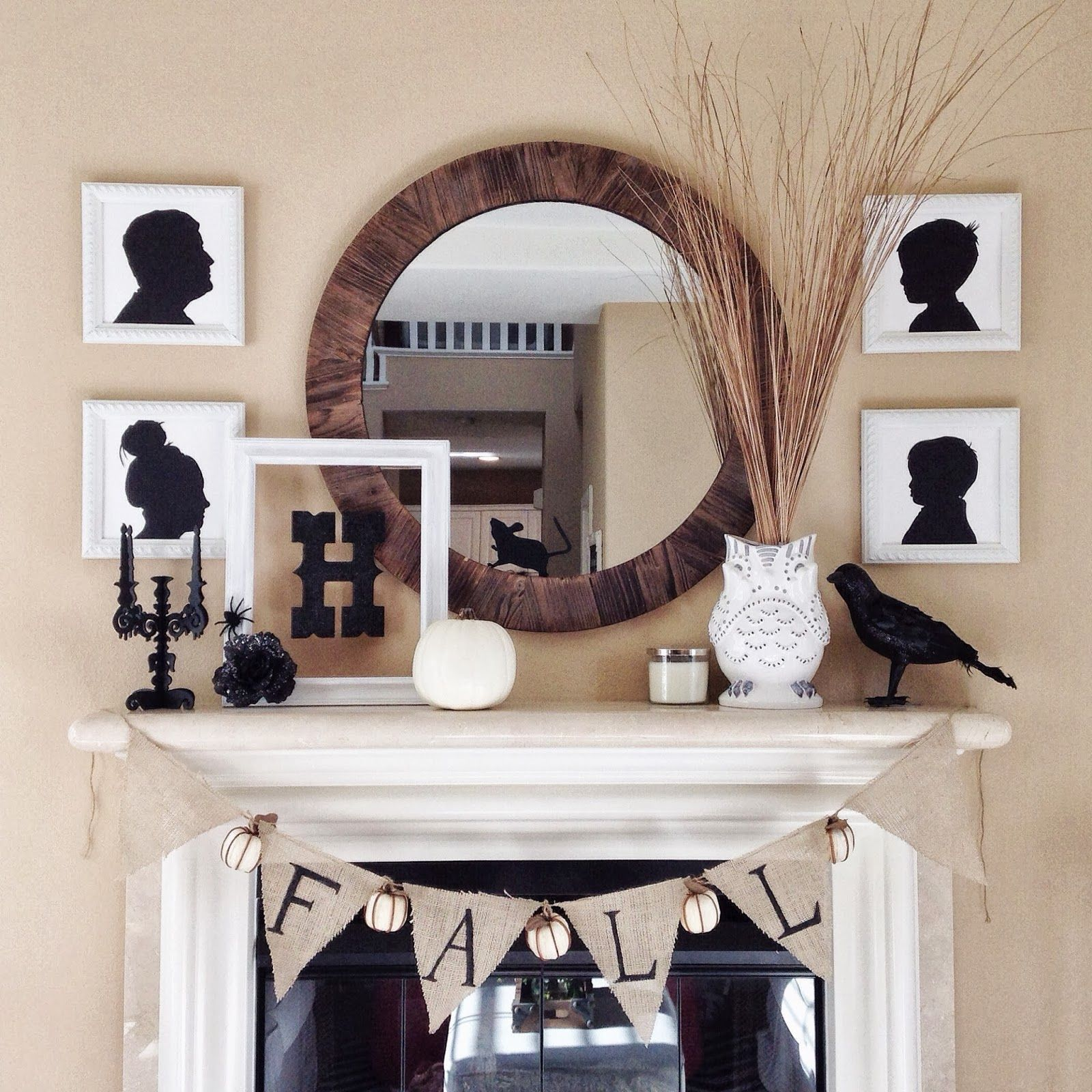 Halloween Mantle Inspiration ~ Live-Love-Be Well Elegant Halloween - Elegant Halloween Decor