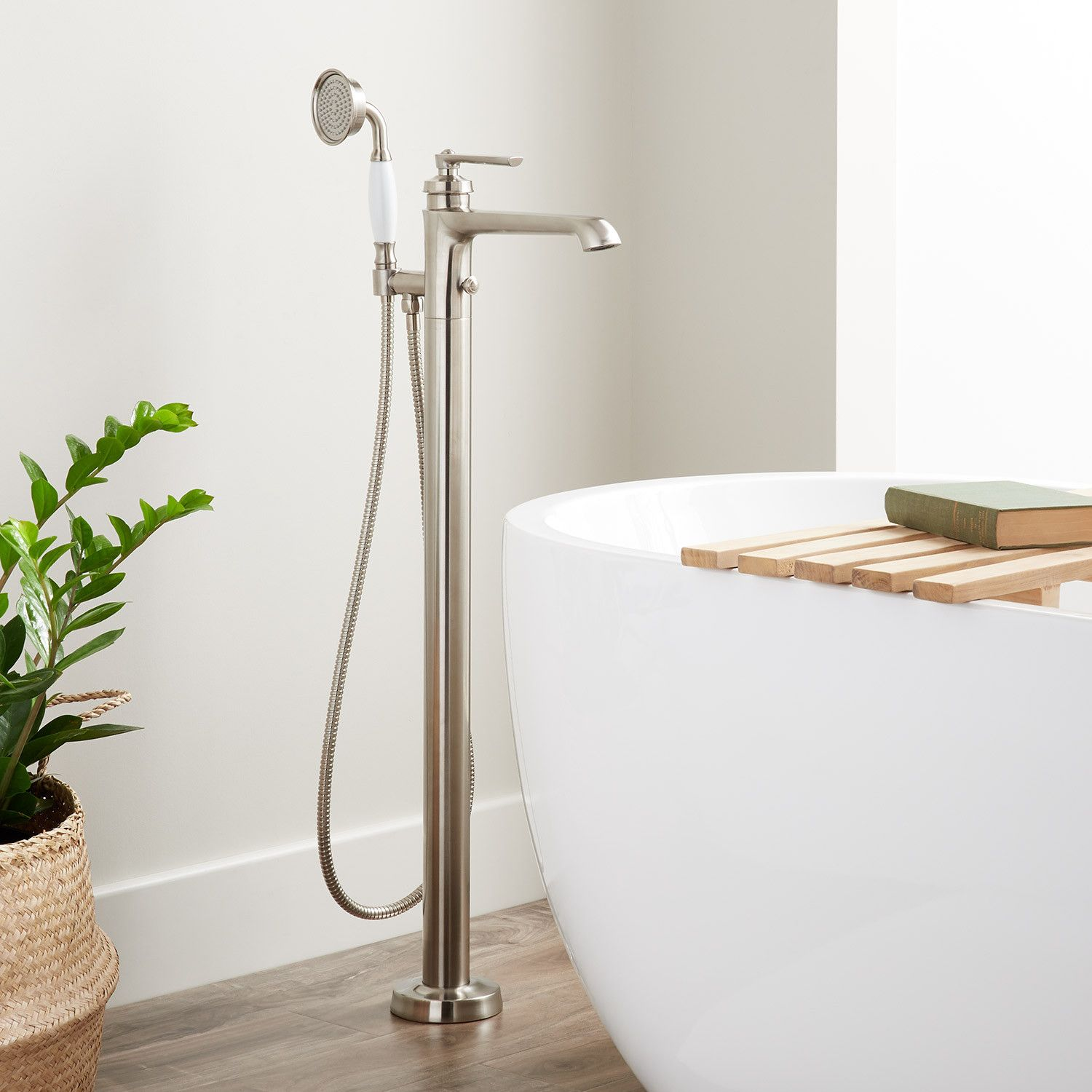 Cooper Freestanding Tub Filler With Hand Shower With Images