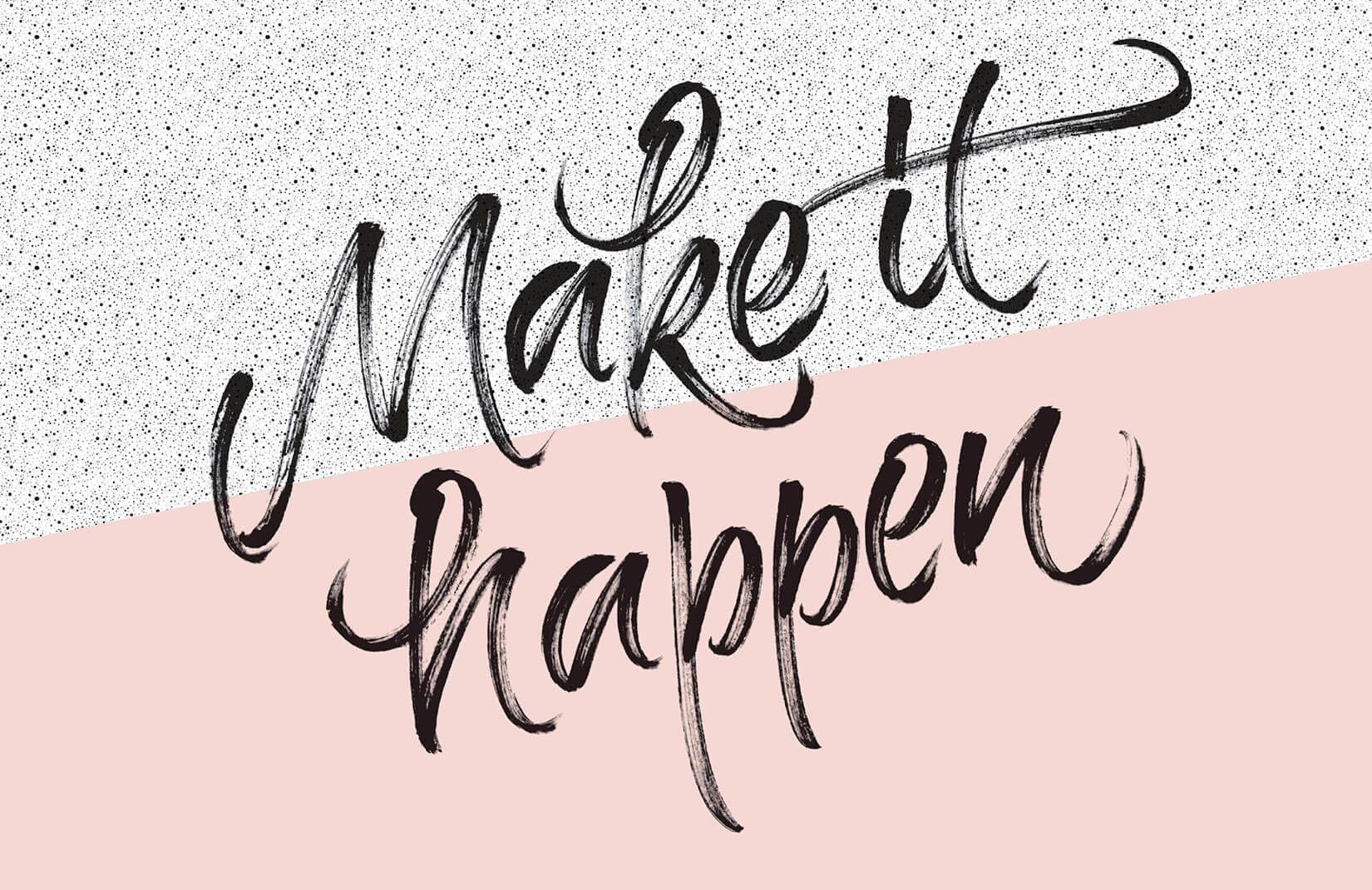 'Make It Happen' Motivation Wallpaper Mural | Murals Wallpaper