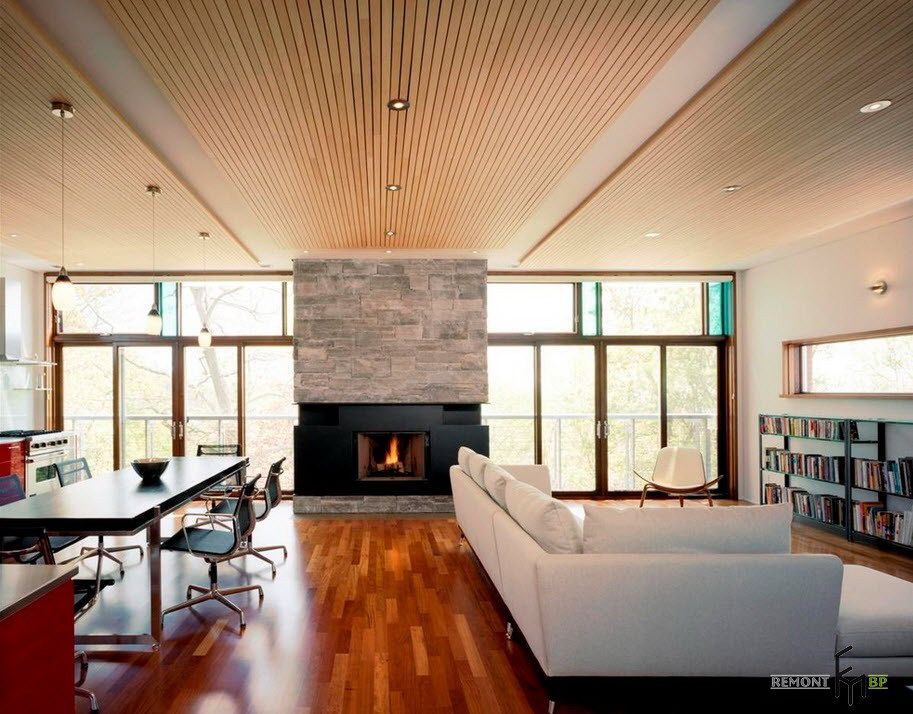 Modern Wooden Ceiling Design For Lovely Open Living And Dining Room  Decoration Fascinating Wooden Ceiling Designs - Modern Wooden Ceiling Design For Lovely Open Living And Dining