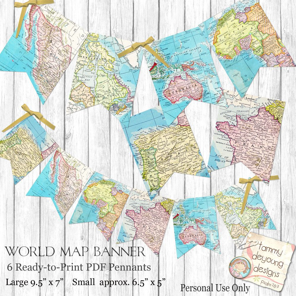 Shabby Chic Vintage Wood Blue Personalised Retirement Party Bunting Banner