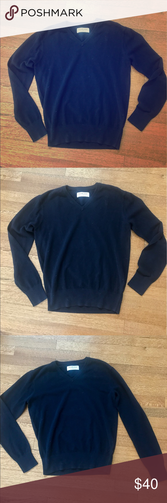 Everlane • Navy Blue • Sweater • NWOT | Baggy sweaters, Blue ...