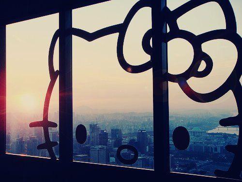 Hello Kitty window