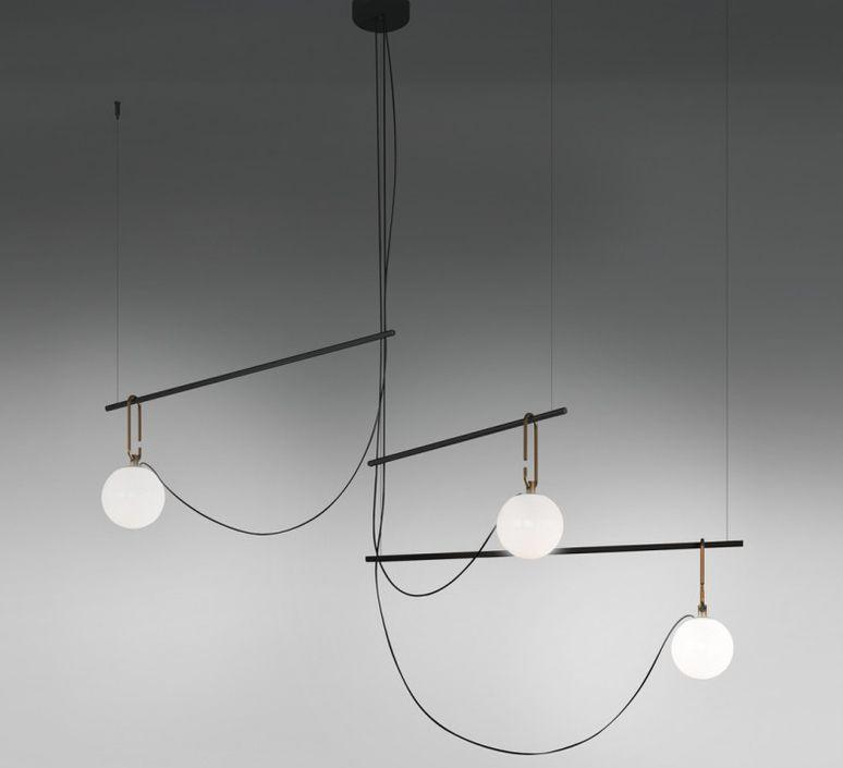 Pendant Light Nh S3 White Brass Black L117 5cm H67 2cm Artemide In 2020 Living Room Pendant Light Living Room Pendant Kitchen Hanging Lamps