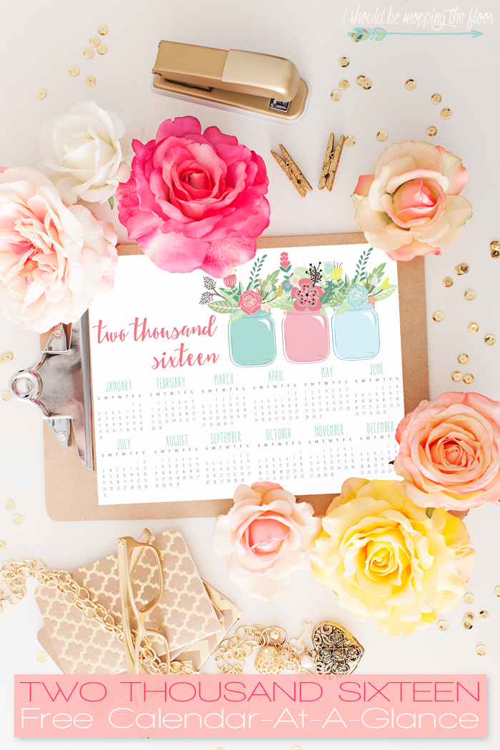 Free Printable 2016 Calendar AtaGlance – Free Office Calendar