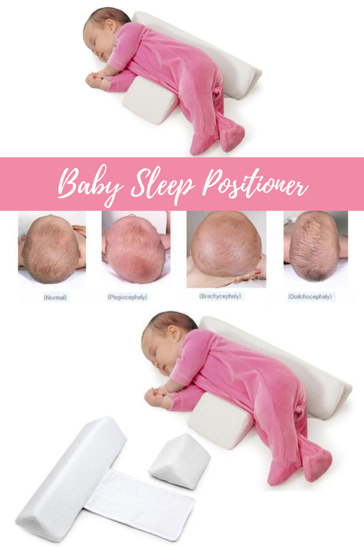 Baby Newborn Infant Cute Pillow Soft Positioner Prevent Flat Head Anti Roll WE