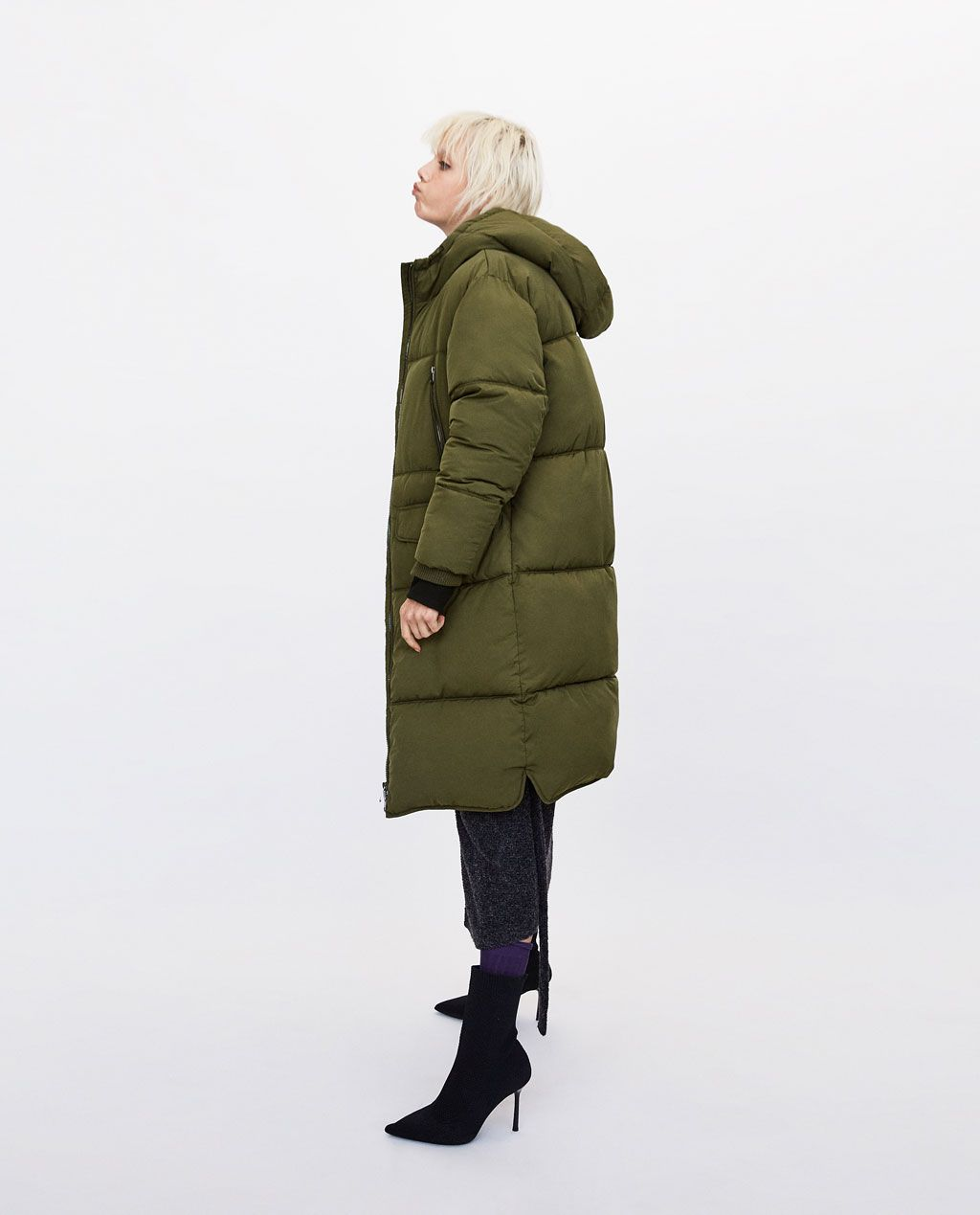 4e155880 Image 4 of LONG OVERSIZED PUFFER COAT from Zara | CLOTHES/FASHION in ...