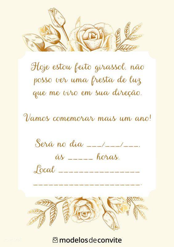 Convites Femininos Prontos Para Imprimir Convites De Aniversario