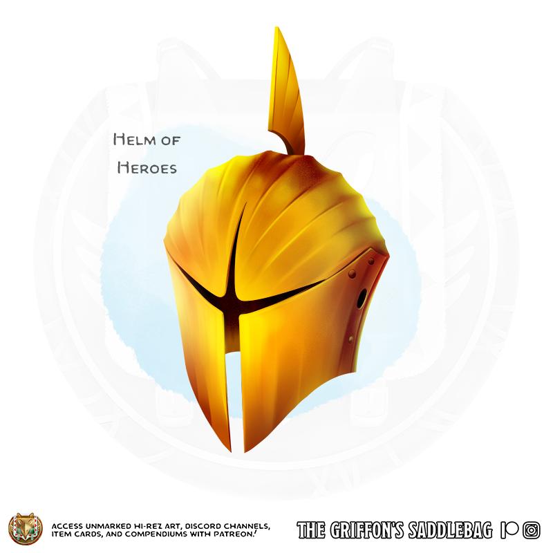 The Griffon's Saddlebag} Helm of Heroes | Wondrous item