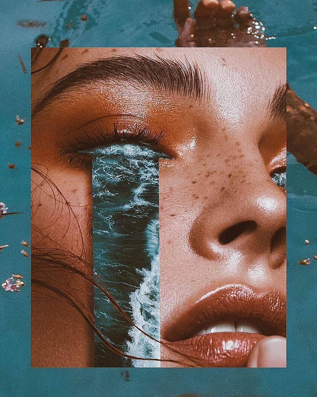 """Saatchi Gallery on Instagram: """"Monday blues? ⠀⠀⠀⠀⠀⠀⠀⠀⠀⠀⠀⠀ We love collage artist Denis Sheckler's, 'Ocean of Tears'. ⠀⠀⠀⠀⠀⠀⠀⠀⠀⠀⠀⠀ #MondayMotivaion #Collage #Photography…"""" #wallcollage"""