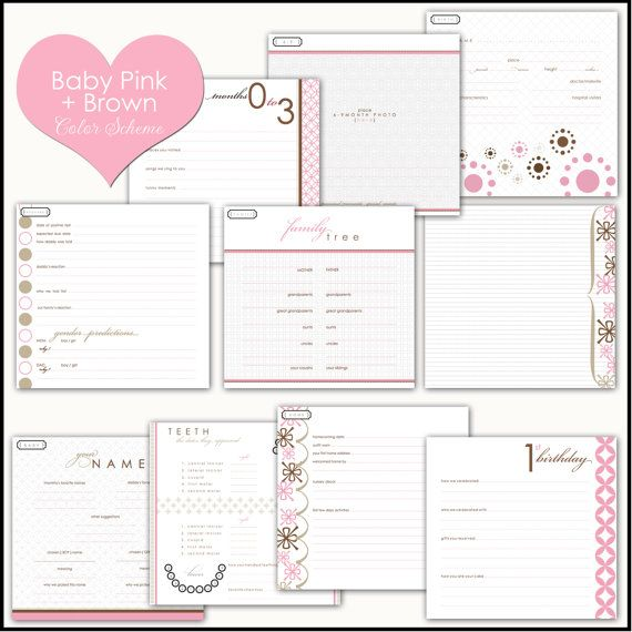 16 memory book template images baby book baby memory book pink and lime by rubylovedesigns. Black Bedroom Furniture Sets. Home Design Ideas