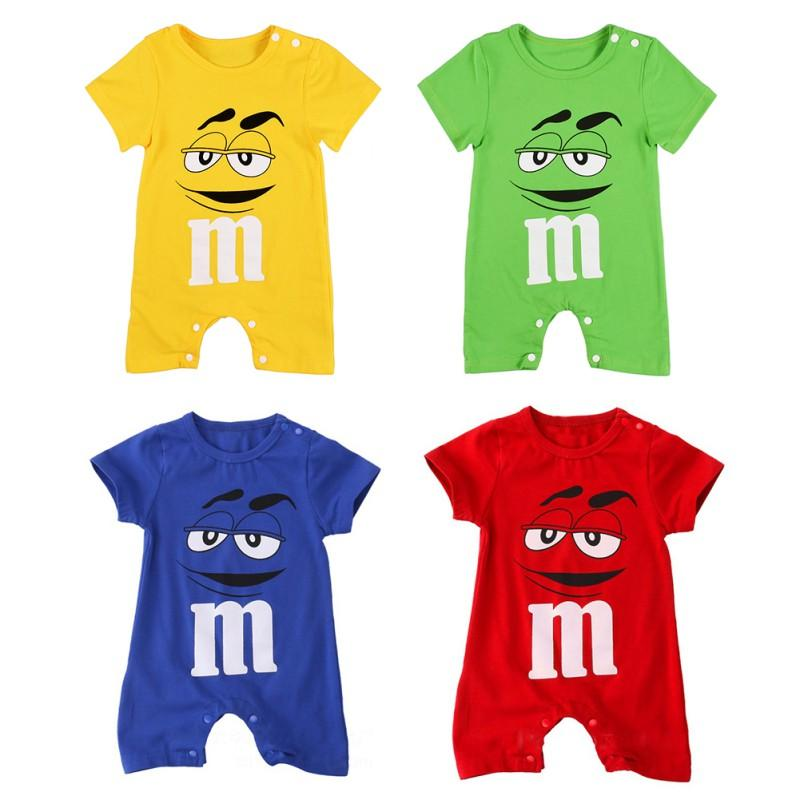 9b1b0500cd458 Baby Boy and Girl M&M's Romper | Rompers | Rompers, Baby boy outfits ...